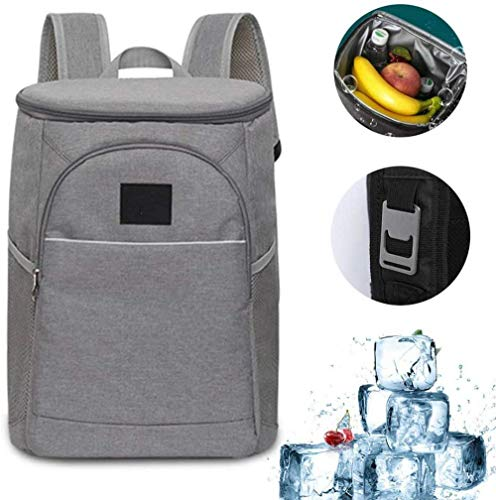 zaizai Leak Proof Cooler Backpack and Bottle Opener, 18 Liter Lunch Backpack with Cooler for Men, Women, Beach Work, Day Trip