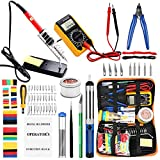 Soldering Irons with Digital Multimeter,Pancellent 60W Adjustable Temperature Welding Tool,328Pcs heat shrink tubing,30-in-1