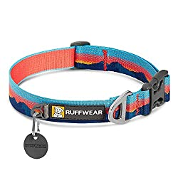 Ruffwear's reflective dog collar is made from strong and secure, single-piece aluminium D-ring and durable woven fabric ensures a lasting connection to your dog Protect your pup and stay visible when it's dark outside with reflective trim that lets y...