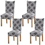 Fuloon Stretch Stuhlhusse 4er Set Universal Stuhlüberzüge Schwingstuhl bezug Freischwinger Hussen für Haus Esszimmer Hochzeit Bouquet, Hotel, Restaurant Dekor (6 Stück)