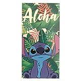 Primark Home - Toalla Lilo y Stitch de Disney para niño y niña para la Playa o la Ducha - 100% Algodon - Tamaño 140 x 70 cm. Colores: Verde, Azul, Blanco y Negro Toalla Playa niño y niña