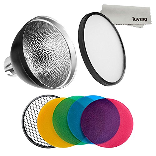 Godox AD-S2 Standard-Reflektor mit weichem Diffusor & AD-S11 Fotografie-Farbfilter-Gel-Pack für Witstro Flash AD200 AD180 AD360 AD360II