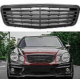 2007 2008 2009 W211 E-Class E350 E550 E63 All Glossy Shiny Black Front Grille Grill For Mercedes Benz E-Class 07 08 09