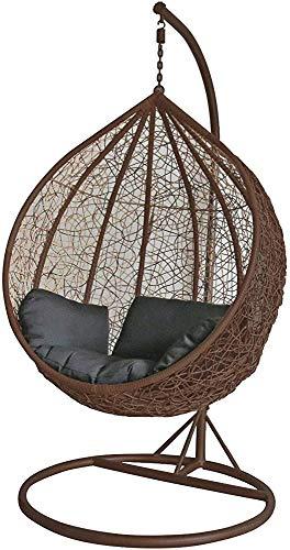 Terrasse Gartenschaukel Hänge Rattanwebart Eier oder im Freien Stuhl,Brown