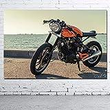 IGZAKER Motobike Yamahaa xv500 Vintage Motorbike Wallpaper Wall Art Poster Canvas Cloth Printed Decorative paintings/60x80cm (no Frame)