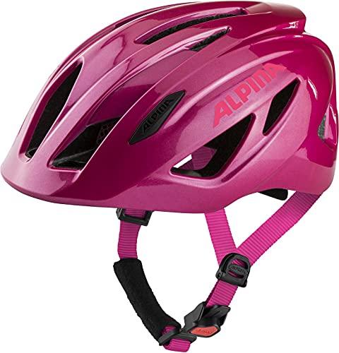 ALPINA Unisex - Kinder, PICO FLASH Fahrradhelm, deeprose-pink gloss, 50-55 cm