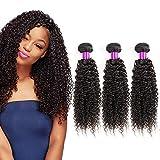 Tissage bresilien naturelle bouclé cheveux humain frisée 8 10 12 pouces Kinky Curly Remy hair tissage meche bresilien en lot pas cher ondule extension cheveux naturel Kinky Human Hair Curly Bundles
