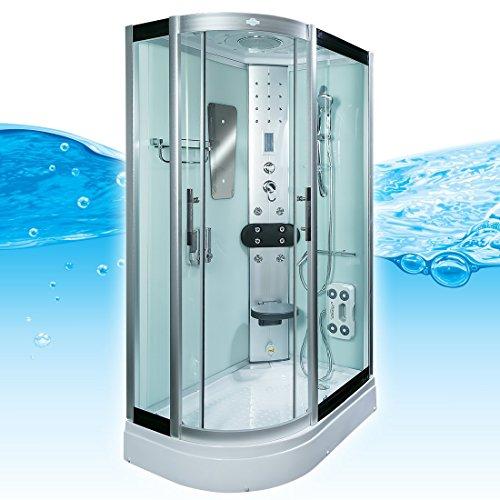 AcquaVapore DTP8060-7003L Dusche Dampfdusche Duschtempel Duschkabine -Th. 120x80, EasyClean Versiegelung:JA mit 2K Scheiben Versiegelung