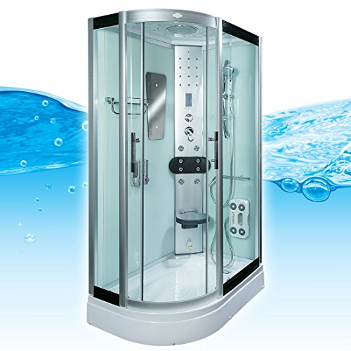 AcquaVapore DTP8060-7000L Dusche Duschtempel Komplett Duschkabine 120x80, EasyClean Versiegelung:JA mit 2K Scheiben Versiegelung