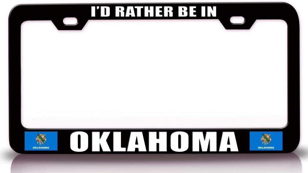KINGK - I'd Rather BE in w Steel Oklahoma Flag Portland Mall Metal State Popular brand
