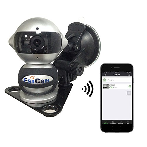 EsiCam robot Cámara inalámbrico para el teléfono inteligente HD audio de dos vías de la visión nocturna de alarma Grabación con montaje magnético ventosa Usado para de copia de seguridad RV-EC07
