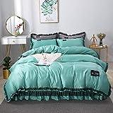 bettwäsche 220x240,Sommer Coole Bettwäsche, komfortable Haut, glattes, atmungsaktives Einzelbett...