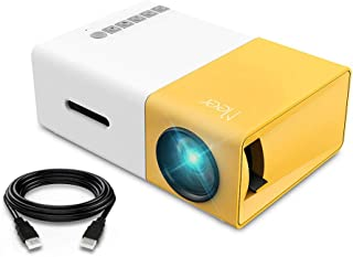 Meer Mini Projector, YG300 Portable Pico Full Color LED LCD Video Projector for Video TV Movie, Party Game, Outdoor Entert...