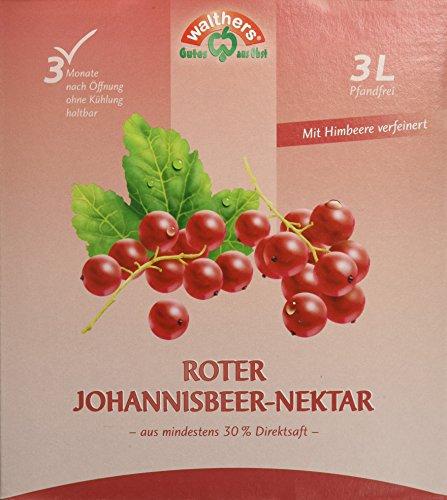 Walthers Roter Johannisbeer-Nektar (1 x 3 l Saftbox)