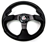 Tanaka 320mm 6 Bolt PU Carbon Fiber Steering Wheel Universal