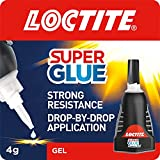 Loctite Super Glue Power Flex Control, Flexible Super Glue Gel, Superglue with Non-Drip Formula for Vertical Applications, Clear Glue with Precise Nozzle, 1x3g