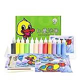 Berry President 12 paquetes de tarjetas de pintura de arena para niños, kit de manualidades de papel de bricolaje con 12 botella Sparky Glitter color arena para Chidlren
