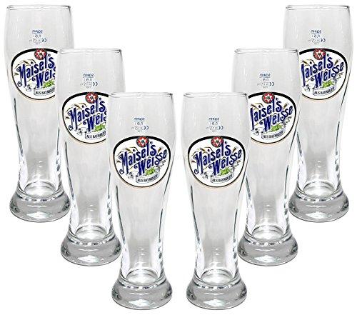 Maisels Weisse Glas Bierglas Gläser-Set - 6x Biergläser 0,5l geeicht