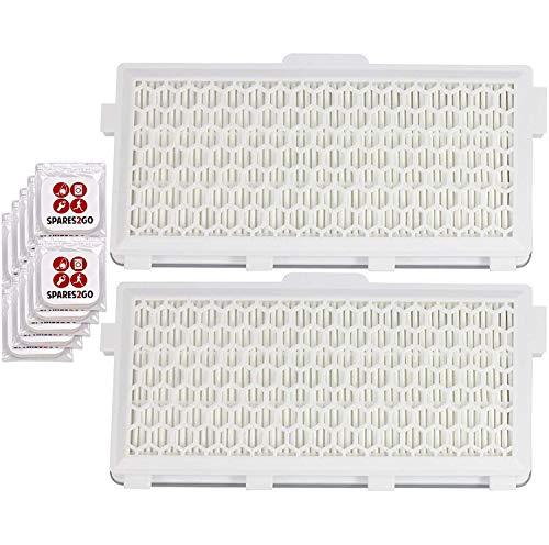 Spares2go SF-HA 50 Filtro HEPA compatible con aspiradoras Miele S6210 S6220 S6240 S6290 S6730 (2 filtros + 10 pestañas ambientadoras)