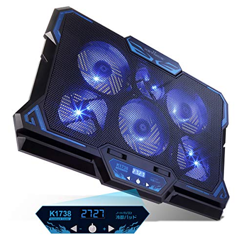 KEYNICE 冷却ファン ノートパソコン 冷却パッド 冷却台 LED搭載 超静音 USBポート2口 USB接続 風量調節可 ...