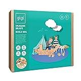 GIGI Bloks - Set regalo di blocchi da costruzione giganti, in cartone, con 30 mattoni impilabili, XL, stencil, pittura e adesivi, gioco di abilità per bambini