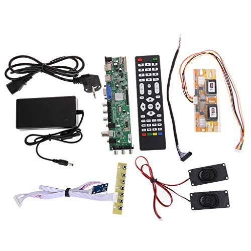 Yoging - Juego de 1 juego DS.D3663LUA.A81 / DVB-T2 / T/C, televisión digital de 15 a 32 pulgadas, controlador de televisión LCD universal, módulo de tarjeta de piloto, para 30 pines de 8 bits