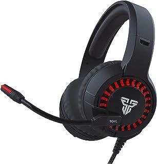 BINDEN Audífonos Gamer HQ52 Headset Ligeros Micrófono Omnidireccional Plegable con Supresión de Ruido Auriculares Tipo L Compatible con Laptop PC Dispositivos Móviles con Entrada Jack 3.5mm, Negros