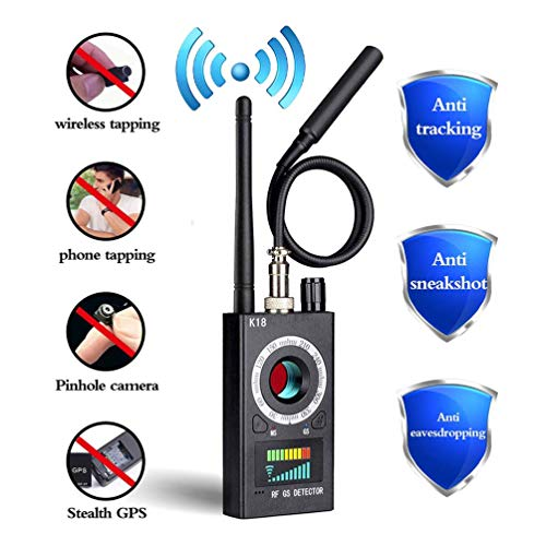 Anti Spy Detector, RF Detector & Camera Finder, Bug Detector, Upgraded RF Signal Detector, FEEKE GSM Tracking Device for Wireless Audio Bug Hidden Camera Detector (Black)…