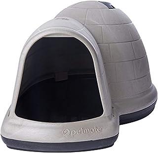 Petmate 25942 Indigo Dog House with Microban, Medium, Taupe Top, Black Bottom