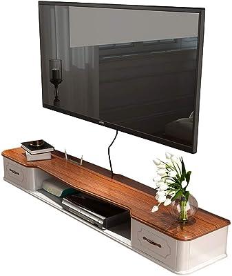 LTJTVFXQ-shelf Estante Flotante Dormitorio Sala de Estar Estante de Pared Televisor montado en la Pared Enrutador Reproductor de DVD Proyector Soporte de TV por satélite Soporte: Amazon.es: Hogar