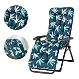 Ablerfly Replacement Garden Recliner Relaxer Chair Cushion,Thick Patio Chaise Padded for Garden Sun Lounger Recliner Patio Garden Furniture Replacement Cushion(Cushion Only)