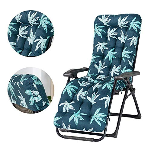 Ablerfly Replacement Garden Recliner Relaxer Chair Cushion,170x53x8cm Thick Patio Chaise Padded for Garden Sun Lounger Recliner Patio Garden Furniture Replacement Cushion(Cushion Only)