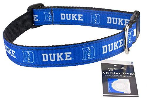 Duke Blue Devils Ribbon Dog Collar - Large
