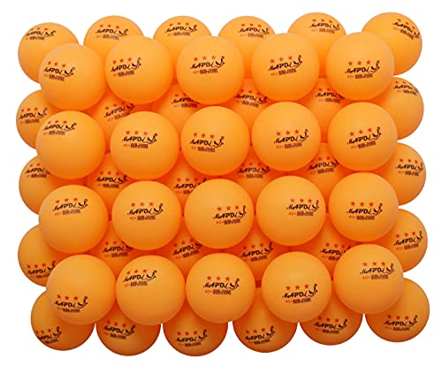 MAPOL 60 Counts 3-Star Orange 40+ Premium Training Ping Pong Balls Advanced Practice Table Tennis...
