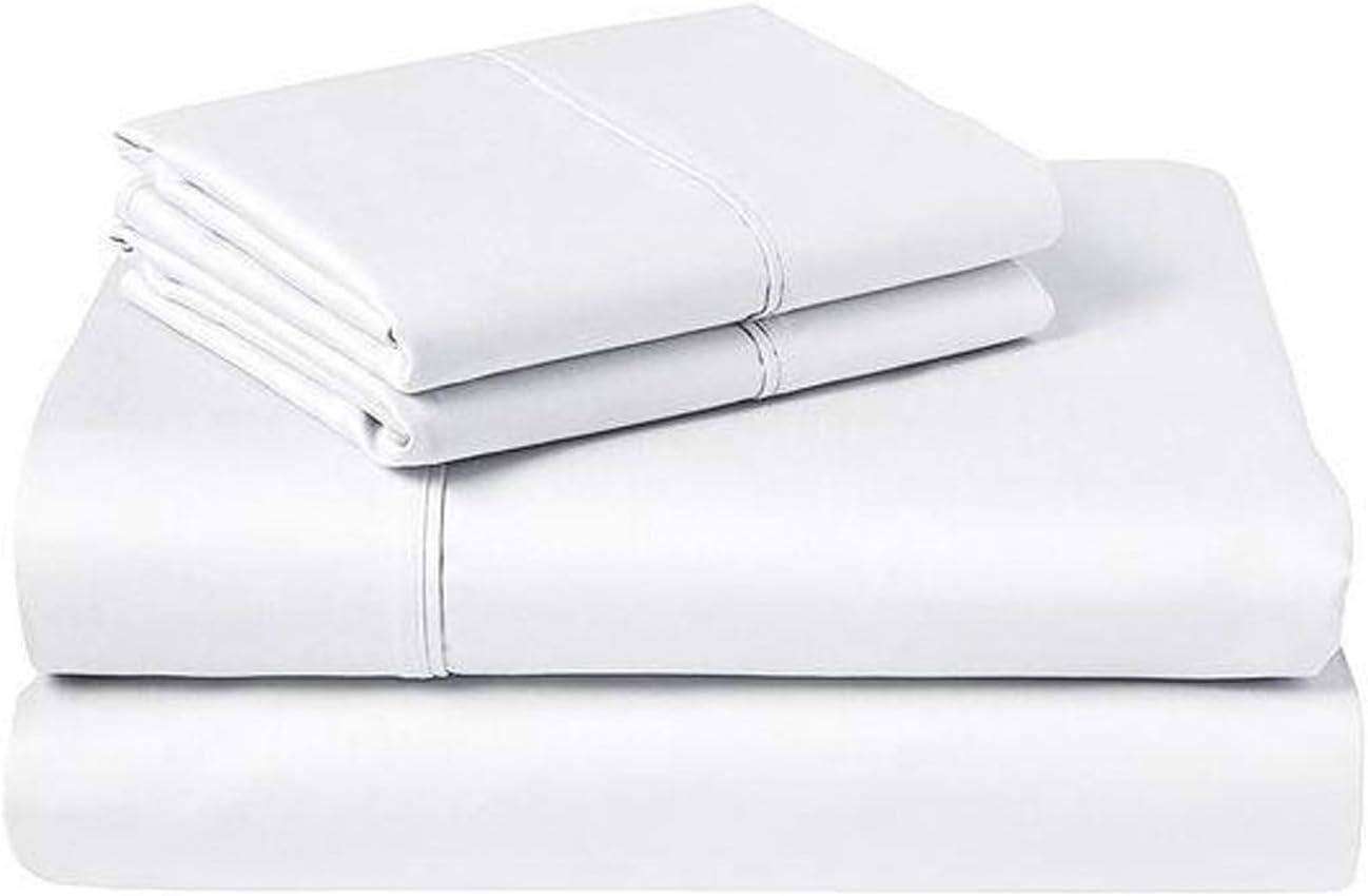 Loft Hotel Queen Sheet Set - White 4 Fresno Mall Max 78% OFF Piece Microfiber Ultra-Soft
