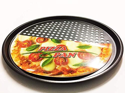 Bandeja de pizza antiadherente para horno de clase profesional de 32,5 cm de diámetro con tecnología rápida y nítida