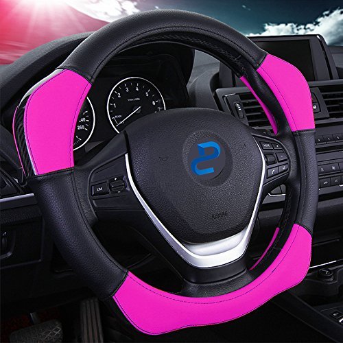 Auto Car Steering Wheel Cover with 4 Booster Anti-Slip Universal 15'/38cm