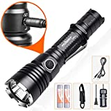 ORCATORCH T20 Tactical Flashlight with Holster, 980 Lumens Super Bright Military Grade LED Torch, IP68 Water-Resistant, 6 Light Modes