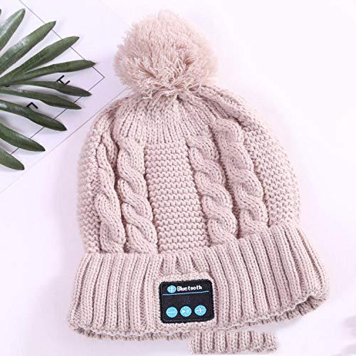 Ysakura Gorra con Bluetooth,Sombrero de Punto Bluetooth de otoño e Invierno, Sombrero cálido para Damas al Aire Libre,Gorro de música inalámbrico de Punto cálido
