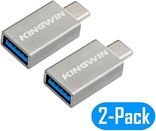 Kingwin USB C Adapter, Aluminum USB Type C to USB 3.0 Converter Connector, Data Sync & Charging for MacBook Pro, ChromeBoo...