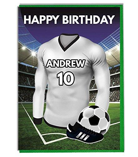 Einzigartige Swansea Trikot Geburtstagskarte/Grußkarte mit Umschlag