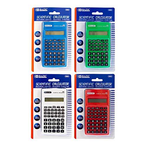 BAZIC Scientific Calculator 56 Function w/Slide-On Case, Engineering...