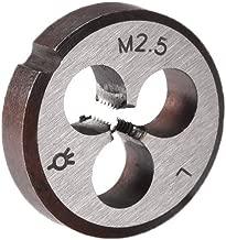 uxcell M2.5 M2.5x0.45 Pitch Metric Left Hand Round Die Machine Thread Die,Threading Die,Screw Die Tool,HSS High Speed Steel