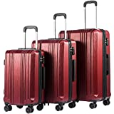 Coolife Luggage Expandable Suitcase PC+ABS with TSA Lock Spinner 20in24in28in