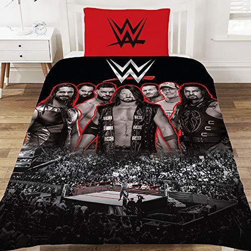 WWE Duvet Set, Polycotton, Multi, SINGLE