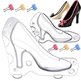 JETKONG 2 Pack High Heel Chocolate Mold 3D Shoe Candy...
