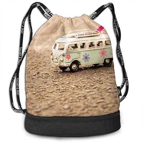 Petrichor Yi Gym Sack Toys Bus Print Drawstring Bags - Sac à Dos à Poche Simple Bundle