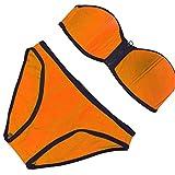 weifengjiaju Sexy Sexy Cremallera Bikini bikinii Traje de baño Naranja XL