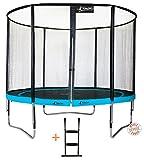 Kangui - Trampoline de Jardin Rond 305 cm + Filet de sécurité + échelle PUNCHI Atoll 300