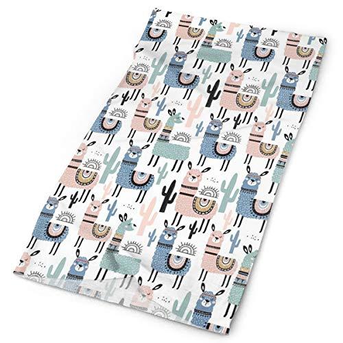 GUUi Headwear Headband Head Scarf Wrap Sweatband,Children Cartoon Style Hand Drawn South American Animals Alpacas and Llamas Design,Sport Headscarves for Men Women